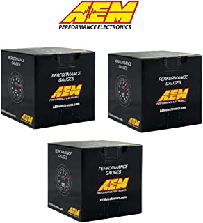 AEM COMBO X-Series AFR Wideband UEGO Air/Fuel Ratio Sensor Controller Gauge+Boost Pressure+Oil Pressure Gauge Kit