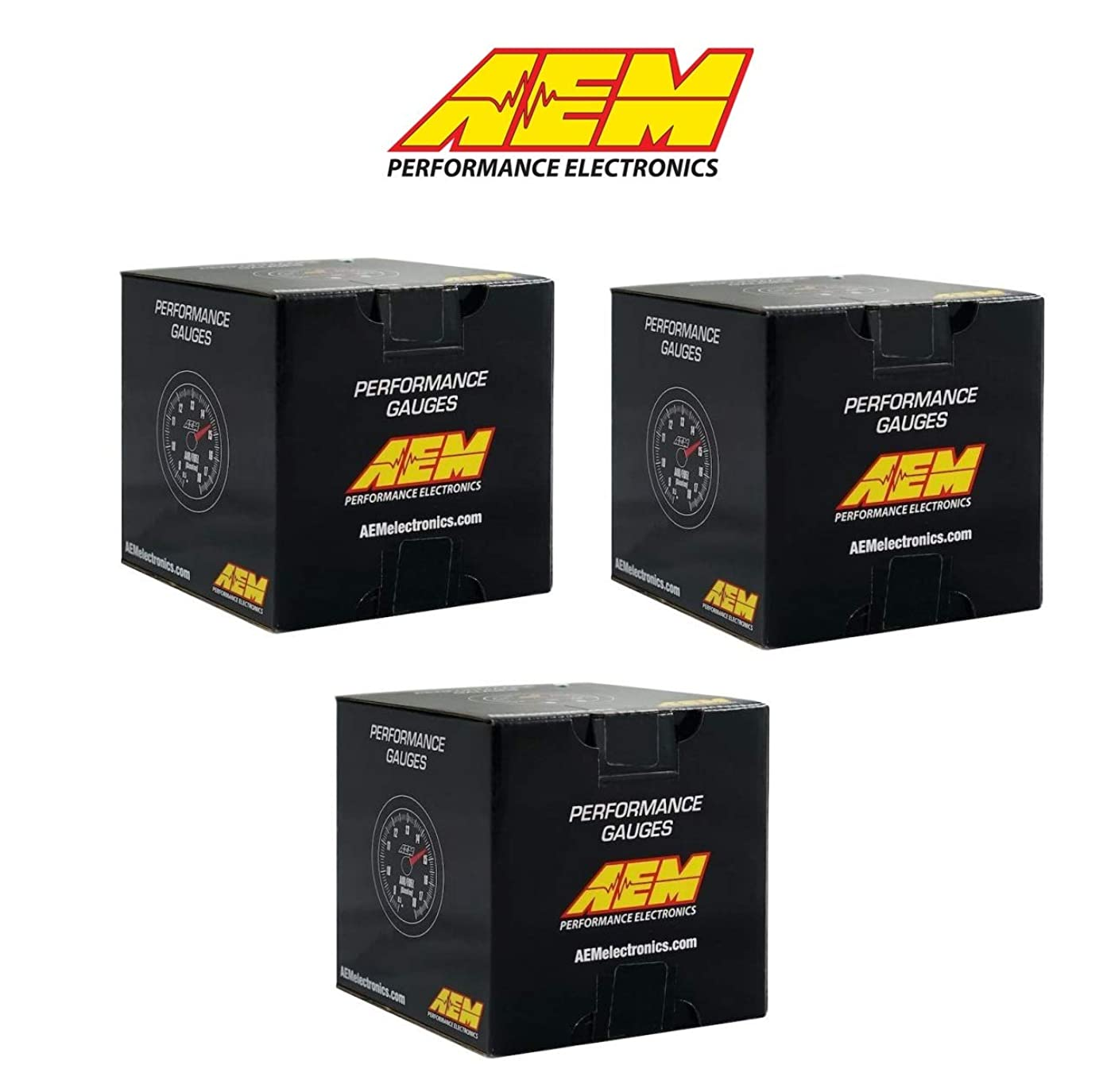 AEM Electronics COMBO UEGO Wideband 4.9LSU Air Fuel Ratio + Fuel Pressure +Oil Pressure 150psi 3 Gauges Combo Set