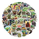 FENGLING Cute Cartoon Baby Yoda The Mandalorian Stickers For Laptop Skateboard Luggage Phone Car Motor Scooter Decal Bottle 20Pcs