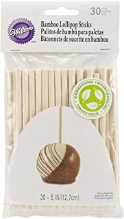Wilton 30/Pack Bamboo Lollipop Sticks, 5-Inch,White