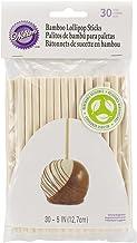 Wilton 1912-1931 30/Pack Bamboo Lollipop Sticks, 5-Inch,White