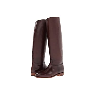 Frye Abigail Riding (Dark Brown Smooth Polished Veg) Cowboy Boots