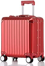 BFZJ suitcases Carry-On Luggage with 360� Spinner Wheels Hardshell Lightweight Suitcase with Password Lock Durable Trolley Case Boarding The Chassis for Men and Women (Color : Red, Size : 18'')