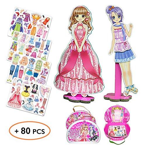 kilikolo 1709038 - Magnetische Anziehpuppe Brettspiele für Mädchen - Geburstag Kreatives Spielzeug