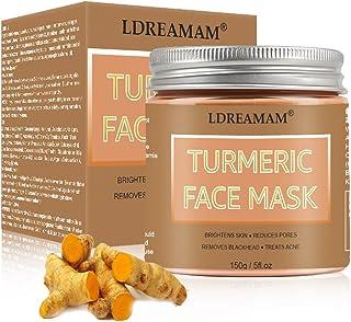 Turmeric Face Mask,Clay Facial Mask,Blackhead Remover Mask,Skin Brightening Mask with Turmeric and Bentonite Clay,Moisturi...