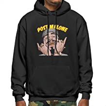 Po-st Ma-Lone Men Pullover Hoody Sweatshirts Unique with Pocket Cap