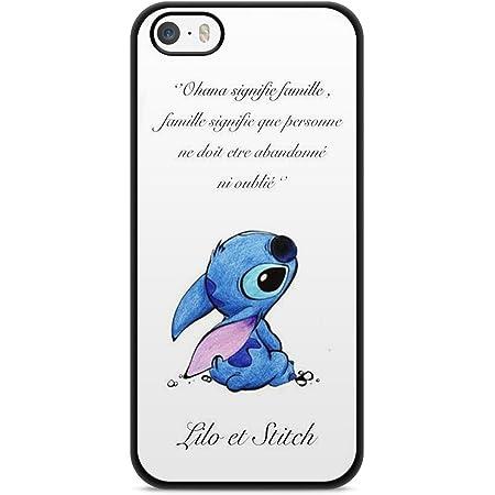 Coque Iphone 5 / 5s / Se Lilo Stitch Tortue Love Ohana Citation ...