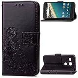 Leather Wallet Case for Google Nexus 5X, Flip Case Leather