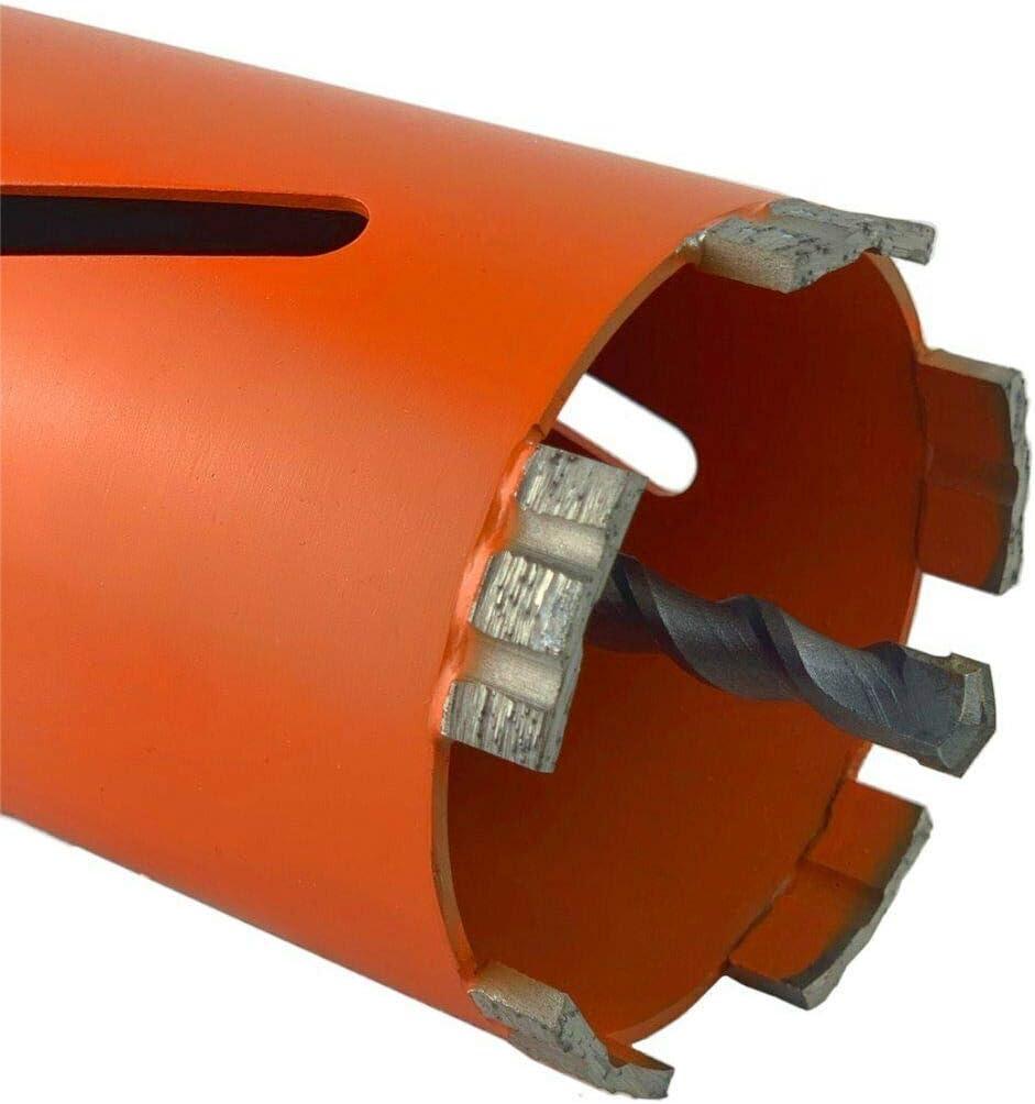 Diamantbohrkrone Kernbohrkrone Kernbohrer mit SDS PLUS Aufnahme Nutzl/änge 180 mm Durchmesser 26 mm