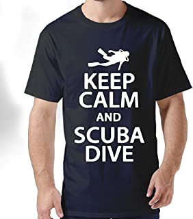 ZYXcustom Keep Calm and Scuba Dive Men's Short-Sleeve Crewneck T-Shirt