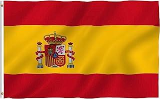 comprar comparacion Anley Fly Breeze Bandera de España de 3x5 pies - Color Vivo y Resistente a la decoloración UV - Encabezado de Lienzo y Dob...