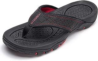 HOBIBEAR Mens Flip Flops Sport Thong Sandals Comfort for Outdoor Beach