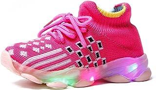 NAIKLY Baby Shoes 1-4 Ans Enfant LED 1-6 T Éclairage Chaussures de Marche Lumineuses Slip sur Soft Sole Sold Skillers Cade...