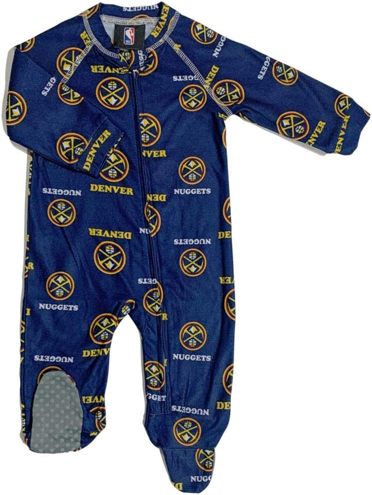 Outerstuff Infant Toddler Denver OFFicial store Nuggets Mail order cheap Coverall Sleeper Zip Up