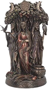 Nemesis Now Maiden, Madre, Crone - Figura Decorativa (32 cm, Bronce, tamaño 20 cm)