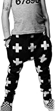 Kids Boys Cross Pattern Harem Pants Casual Sweatpants Baggy