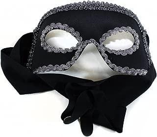 Success Creations Dashing Zorro Like Men's Masquerade Mask Black Silver