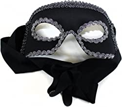 Success Creations Dashing Zorro Like Men's Masquerade Mask Black Silver