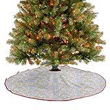Alfombra para árbol con diseño moderno y artístico de pergamino con garabateo, elementos naturales, ...
