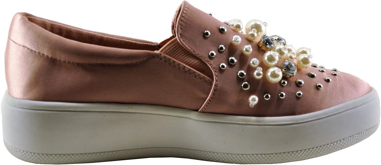 Soda Ramona Women's Pearl Accent Slip On Loafer