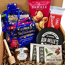 Tea Gift Basket for Tea Lovers, Tea Box Set for Women Prime for Mom, Wife, Friend, Sister, her. Tea Assorment, Honey, Candle, Snacks, Birthday Gift, Get Well Soon, Thinking of You, Gift Set,