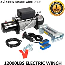 12000lbs 12V Electric Recovery Winch with Wireless Remote Towing for Truck SUV ATV Trailers