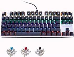 FidgetGear MeToo Backlight Gaming Mechanical Keyboard Anti-ghosting 87 LED Wired Keyboard