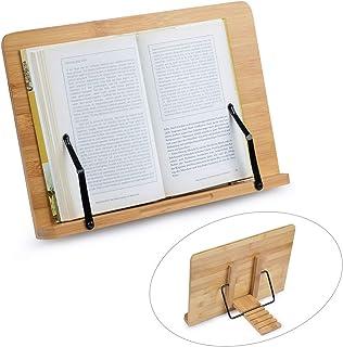 FOCCTS Soporte de Bambú Ajustables Ideal para Leer, Ver Videos, Estudiar,Sostener,Libros de Cocina,Notas Musicales,IPad y Tablet (34 * 24cm)