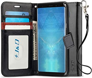 J&D Case Compatible for Galaxy Note 9 Case, [RFID Blocking Wallet] [Slim Fit] Heavy Duty Protective Shock Resistant Flip C...