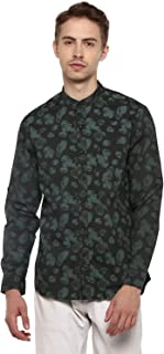 Red Chief Olive Cotton Full Shirts for Men (8110494 124)