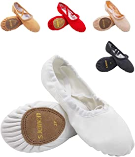Canvas Classic Ballet Dance Yoga Shoes Slippers Flats Pumps for Toddlers Girls Women Men