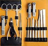 Beauté Secrets Stainless Steel Nail Clipper Set Nail Tools Manicure & Pedicure Set of 15 Pcs Travel...