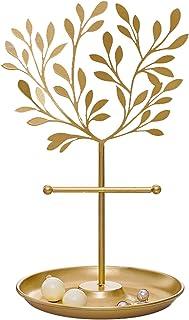 guoqunshop Scatola Regalo Tree di Gioielli in Metallo Piano Dorato Tavolo Dorato Top Decour Heartrings/Braccialetti Collan...