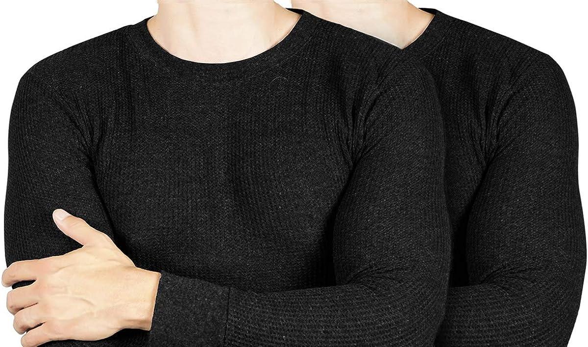 Joe Boxer Men's Thermal Shirt [2 Pack] Thermal Top for Men - Long Sleeve Undershirt