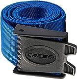 Cressi Unisex Tauchen Bleigürtel, Blau/Schwarz, 147 cm