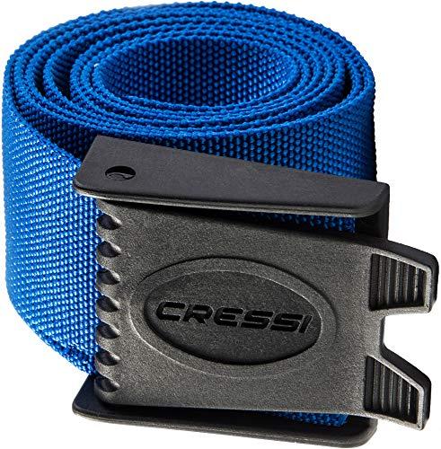 Cressi Nylon Weight Belt w/Plastic Buckle, Blue (TA627020)