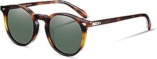 Vintage Round Sunglasses Women Polarized Lens Adjustable Acetate Retro Brand Designer Sunglasses for Women Men
