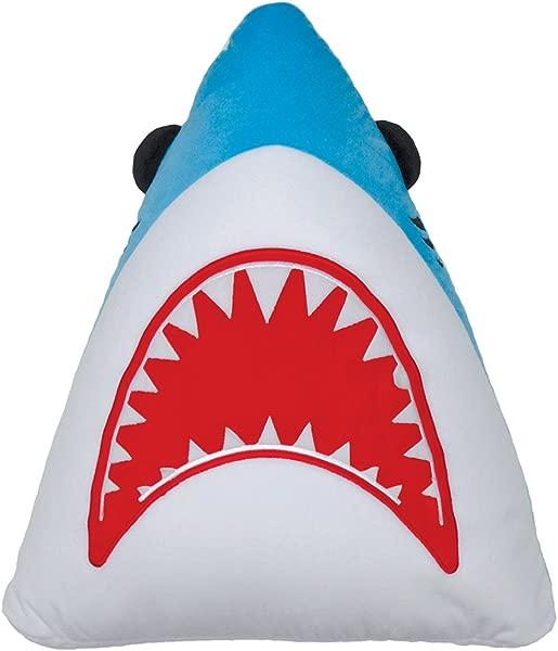 Iscream Shark Attack Embroidered Fleece Accent 20 X 18 Pillow