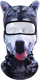 Koolip Cat Balaclava,Dog Balaclava,Halloween Hat,Cute Full Face Hood Mask Animal Ski Mask for Hiking Riding Sports Outddor