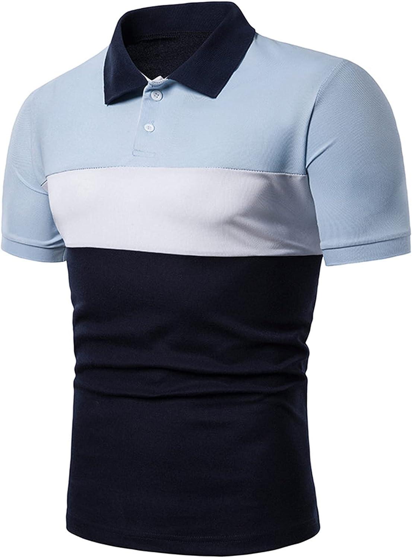 Angbater Mens Polo Shirts Buttons Casual Short Sleeve Mixed Colors Shirts Dress Shirts