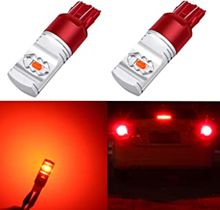 Alla Lighting 3800lm ETI 56-SMD Xtreme Super Bright T20 7440 7443 Red LED Bulbs High Power LED 7443 Bulbs 7441 7444 W21W LED Turn Signal Brake Stop Tail Light