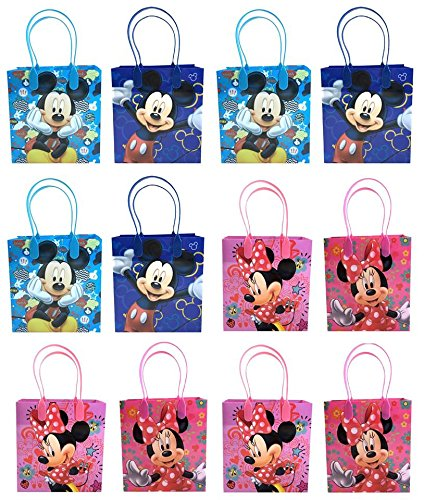 Disney Mickey & Minnie Mouse Mixed Goodie, Favor, Gift Bags 24 Pieces