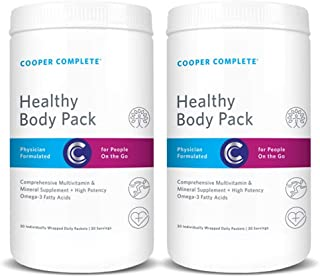 Cooper Complete - Healthy Body Pack - Daily Vitamin Pack with Multivitamin & Omega-3 Fish Oil - 60 Day Supply
