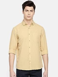 Chennis Mens Causal Shirt(Beige)