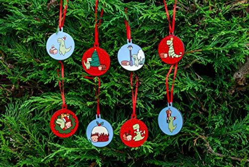 FULL SET OF 8 Loof & Timmy Christmas Tree Decorations