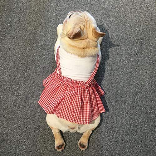 XY huisdier elastische band jurk Plaid ontwerp hond kat rok prinses hond kat kleding t-shirt