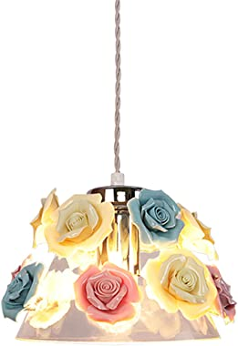 Ceramic Chandelier Garden Flowers Art Chandelier Ceramic Flower Romantic Princess Bedroom Dining Room Chandelier Beautiful