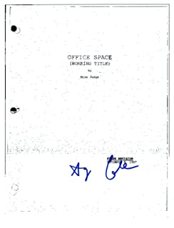 Gary Cole Signed Autographed OFFICE SPACE Full Movie Script COA