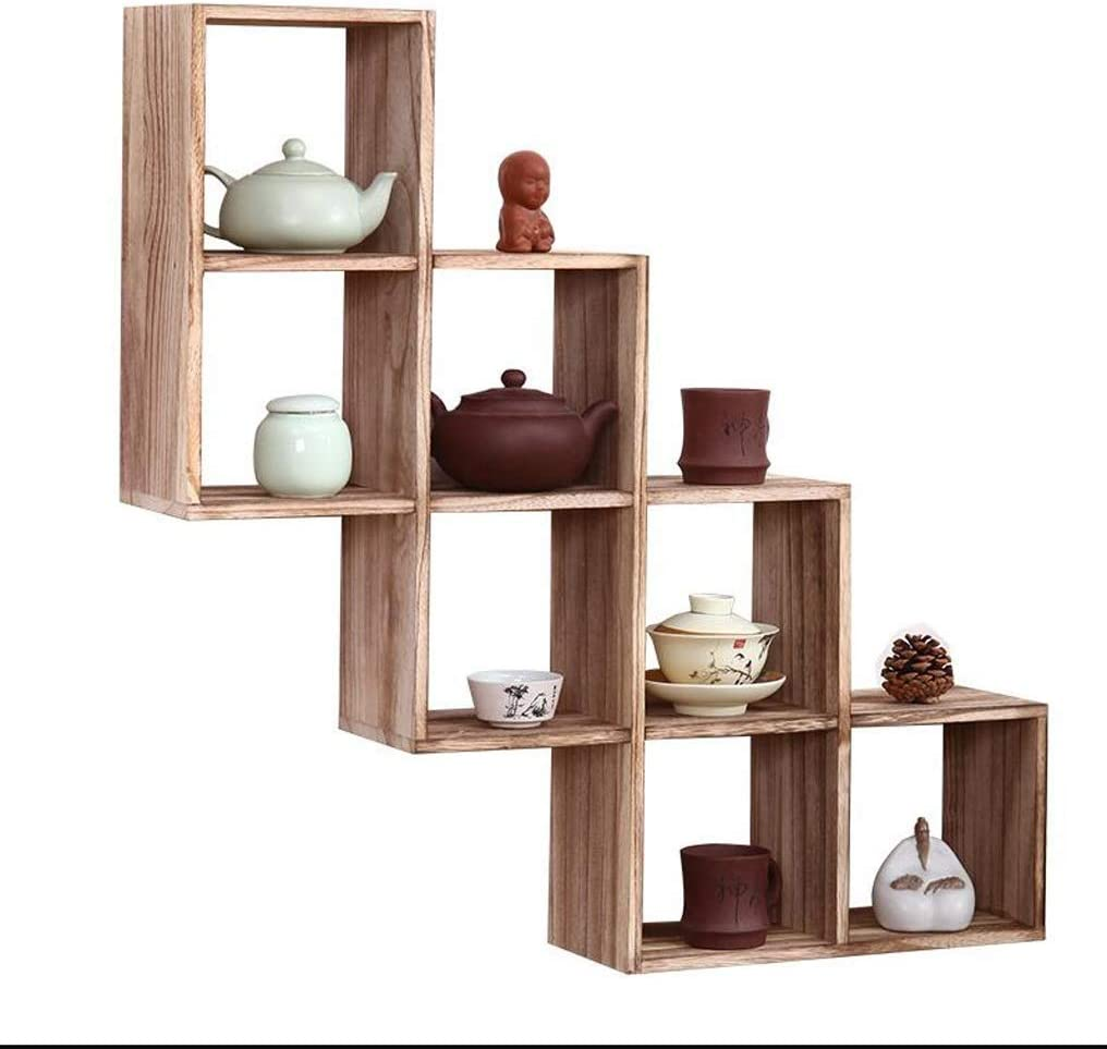 Floating Shelves Solid Wood Max 86% OFF Wall Storage overseas Hanging Antiq Rack