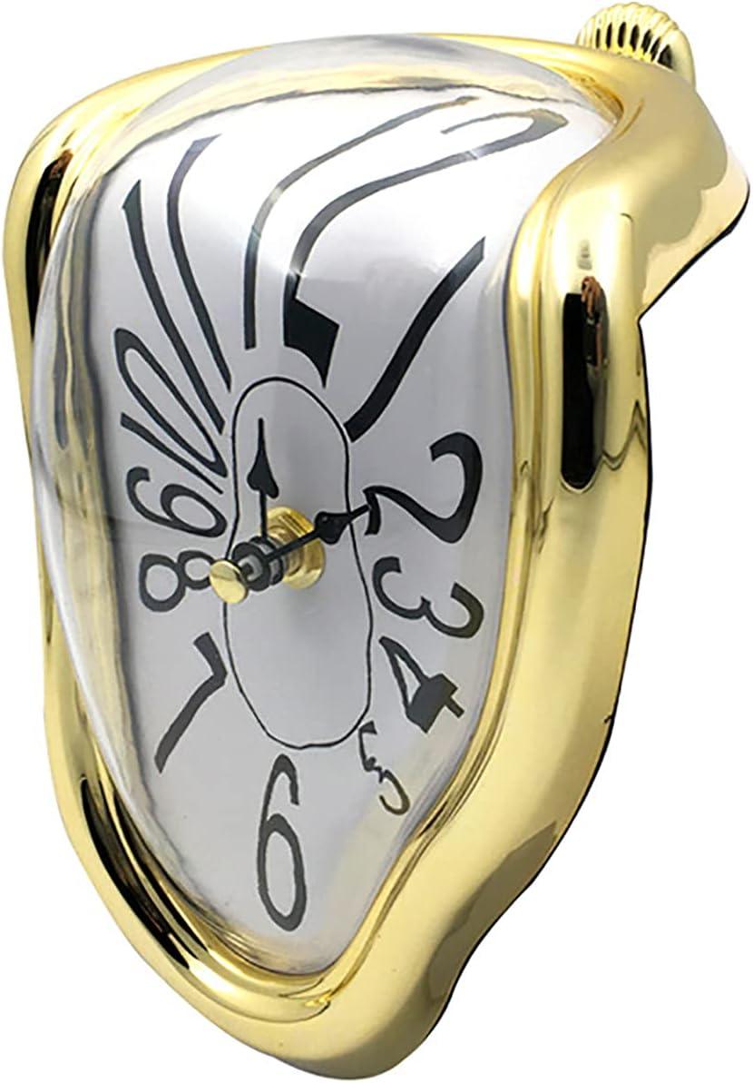 Angel&H Reloj de Fusión, Reloj Derretido de Salvador Dali, Reloj Retorcido Surrealista para La Decoración de Escritorio del Hogar, Regalo Creativo